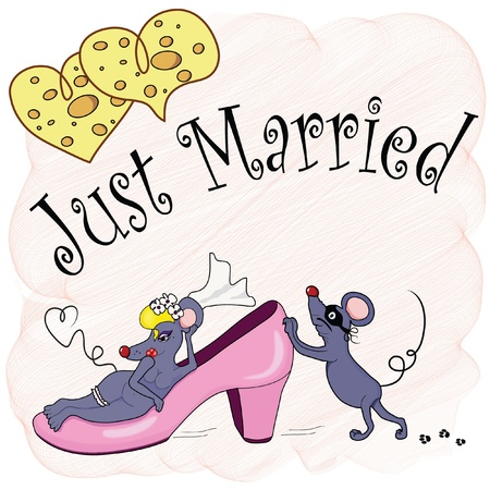 Just Married Stock Vector - 9415585