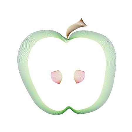 Green apple image Stock Vector - 9520203