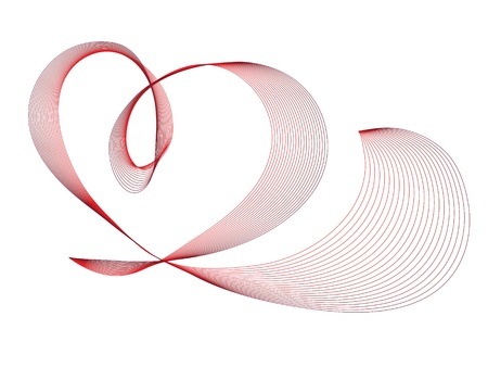 Abstract red heart vector illustration Vector