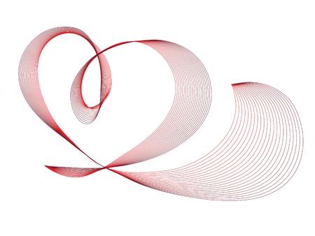 logo medicina: Ilustraci�n vectorial de resumen rojo coraz�n Vectores