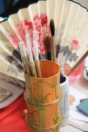 Chinese brushes for painting photo