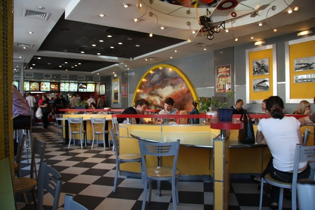 KFC fast food cafe interior, Moscow, Russia - 29.05.2011