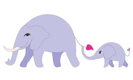 mum and daughter: Famiglia di elefante
