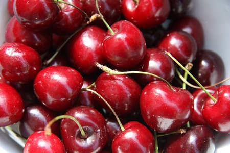 sweet cherry in a plate Stock Photo - 9853148