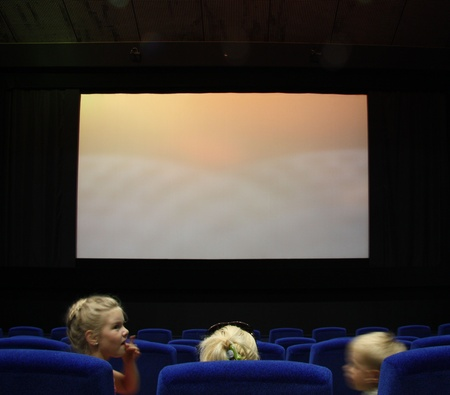 Children in a cinema, Moscow, Russia - 30.06.2011