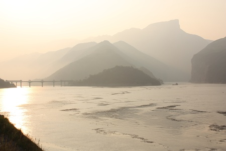 Famous scenery of The Three Gorges at Yangtze river, China photo