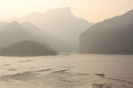 yangtze: Famous scenery of The Three Gorges at Yangtze river, China