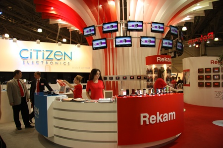 Rekam Stand at the exhibition Photoforum-expo 2011 in Moscow 04.17.2011 Stock Photo - 9907566