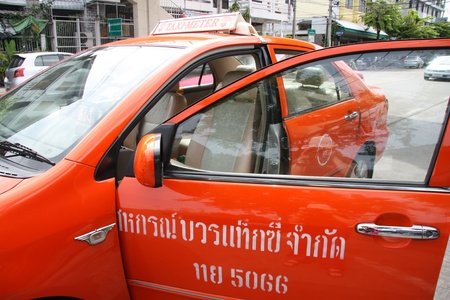 open car door: Taxi-Meter in Bangkok - 23.07.2011