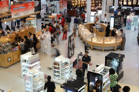 duty: Duty free shop in Doha airport, Qatar  - 20.07.2011 Editorial