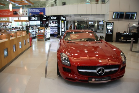 Mercedes-Benz in Duty free shop in Doha airport, Qatar 21.07.2011