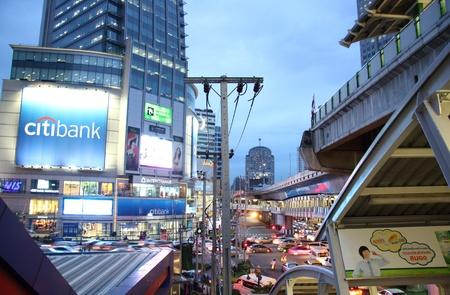 Night Bangkok. Central commercial street - Sukhumvit Road. Thailand - 22.07.2011 Stock Photo - 11045243