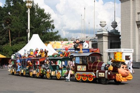 Fairy train in a amusement park at All-Russia Exhibition Centre in Moscow, Russia  Photo taken on: July 08th, 2011
