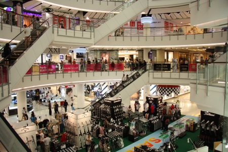 Shopping mall Central World Plaza in Bangkok, Thailand 22.07.2011