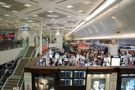 famous industries: Duty free shop in Doha airport, Qatar  Photo taken on: July 21st, 2011