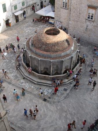 Dubrovnik landmark - Big Onofrio fountain, Croatia 21.07.2009 Stock Photo - 11302013