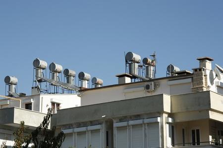 solarpanel: Sun energy power supply in a modern city Antalya, Turkey