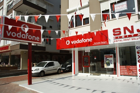 Vodafone store in Antalya, Turkey