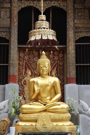 chiangmai: Golden Buddha in Chiangmai, Thailand