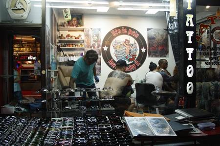 pattaya thailand: Tattoo salon in tourist place Pattaya, Thailand - 5.08.2011