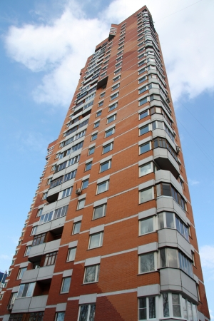 block of flats: brick block of flats