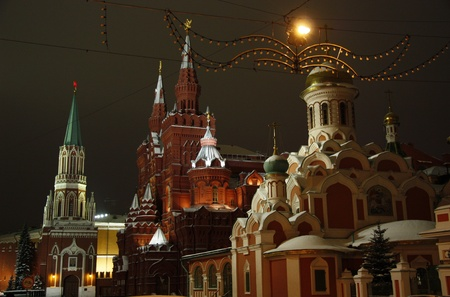 kazansky: Kremlin, Historical Museum of Russia and Kazan Cathedral at the Red Square in Moscow, Russia