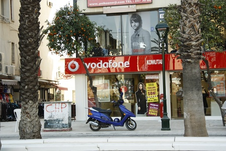 Vodafone store in a centre of Antalya, Turkey - 02.12.2011