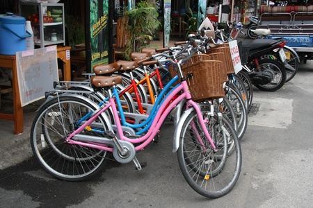 Bicycles for rent in Chiang Mai, Thailand