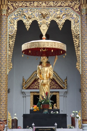 Golden Buddha in Chiangmai, Thailand photo