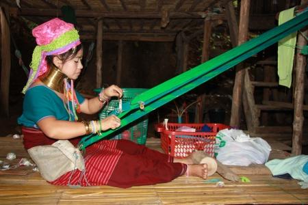 Kayan woman of the group of Karen people, Northern Thailand, Chiang Mai - 31.07.2011 Stock Photo - 13062077