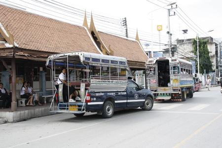 Public transport in Ayuthaya, Thailand - 3.08.2011 Stock Photo - 13118854