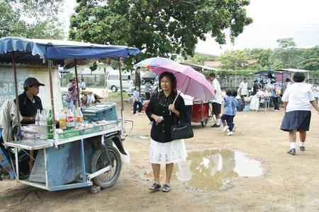 Poor Rural market in Ayutthaya, Thailand - 03.08.2011