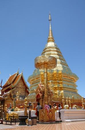 thai believe: Doi Suthep Temple, Chiang Mai, Thailand - 26.07.2011 Editorial