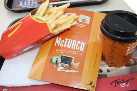 Turkish McDonalds meal with fries and Coffee, Antalya, Turkey Stock Photo - 13436660