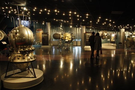 astronautics: The Exhibition Hall in the Museum of Astronautics, Moscow, Russia