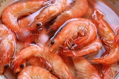 Boiled Shrimps closeup photo