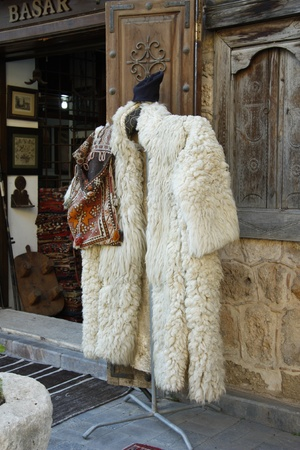 Felt cloak at oriental bazaar in Antalya, Turkey photo