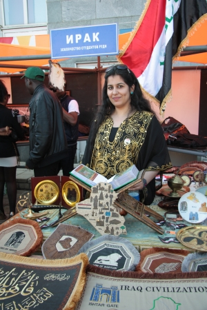 iraqi: Iraqui woman presents her country during The International Culture Day in Russian University of Peoples Friendship in Moscow - 04.05.2012