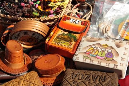 Traditional Peruvian souvenirs at Inca market Stock Photo - 13909831