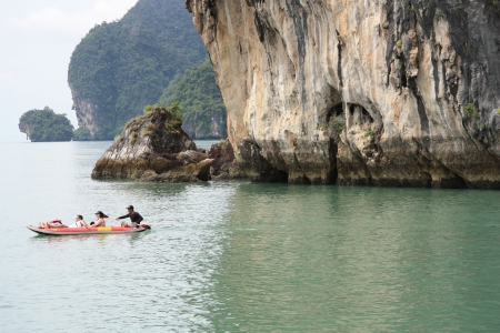 People kayaking at the sea, Phi Phi island, Thailand - 10.08.2011