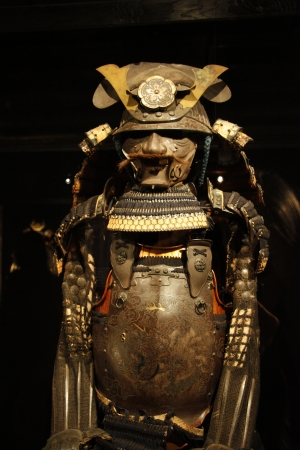 the arts is ancient: Ancient samurai armour presents Martial Arts of Japan, Moscow, Exhibition Art of War Editorial