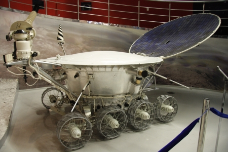 rover: Lunar rover for study of the Moon in the Astronautics museum in Moscow, Russia - 14.01.2012