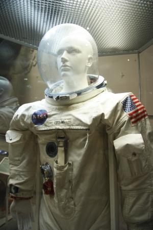 astronautics: American spacesuit in the Astronautics museum in Moscow, Russia - 14.01.2012