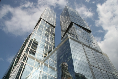 Modern Skyscrapers in International Moscow City Business Center, Russia