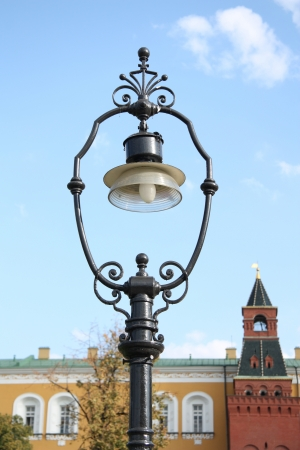 Old style street light in Moscow Kremlin, Russia Stock Photo - 15852351