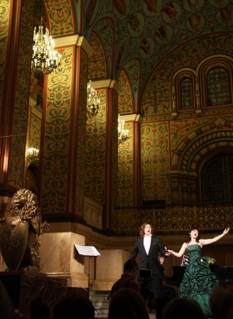 Opera concert in Moscow State Historical Museum at the Red Square, Moscow, Russia - November 18th, 2012 Stock Photo - 16768603