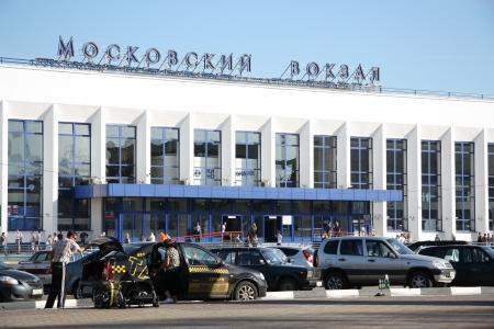 gorki: Moskovsky Railway Station in Nizhny Novgorod, Russia - August 07th, 2012