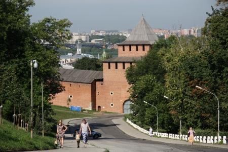 gorky: Kremlin in Nizhniy Novgorod on Volga river, Russia - August 07th, 2012