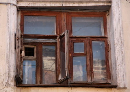 Window of an old abandoned house Stock Photo - 17477221