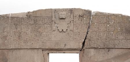 messengers of god: The entrance of the Sun, Tiwanaku, Bolivia